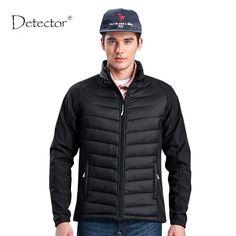 2016 Detector Man Warm Winter Jacket Outdoor Hiking Camping Clothes Soft shell Jacket Man