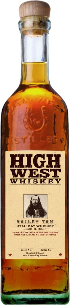 High West Valley Tan Utah Oat Whiskey.  Only 2,000 bottles of this #whiskey, which was aged for up to 4 years, will ever be produced. | @Caskers