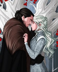 This is so beautiful!! I'm crying they love each other so much! God bless this fandom! . .… #Jonerys #GameofThrones #JonSnow #daenerystargaryen