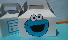 Cookie Monster favor goody bags for Birthday, Baby Shower, or any themes. $19.50, via Etsy.