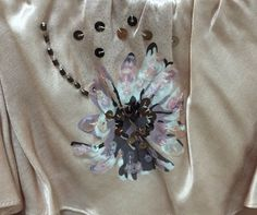 Rebecca Taylor Top Size 4 Spaghetti Strap Pink Sequins Beads Silk Blend #RebeccaTaylor #Blouse #Casual