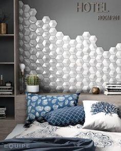 "Oberland White Pearl from Equipe - Diary of a Tile Addict ""Whether they are sculpted, moulded, embossed or etched, tactile tiles are going from strength to strength. 3d Tiles, Wall Tiles, Padded Wall, Tiles Texture, White Bodies, White Rooms, Minimal Design, Electric Blue, Bathroom Inspiration"