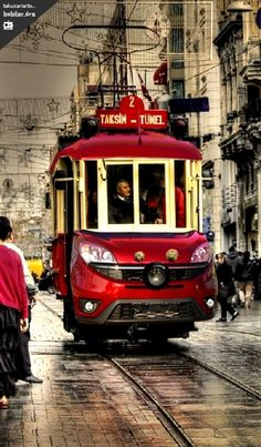 Doblo Tramvay Istanbul Turkey, Mobile Wallpaper, Train, Panda, Photography, Painting, Istanbul, Paintings, Photos