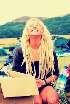 Blonde dreads!