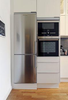 narrow fridge for narrow spaces...Gothenburg Apartment 9 furnime » Interior Design Ideas for Small Spaces: Gothenburg Apartment post