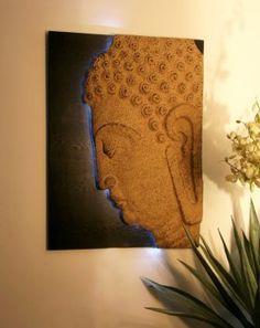 Zen inspired wall decor: Realization Buddha Painting, Buddha Art, Peace And Harmony, Peace And Love, Buddha Home Decor, Decorating Your Home, Decorating Ideas, Decor Ideas, India Decor