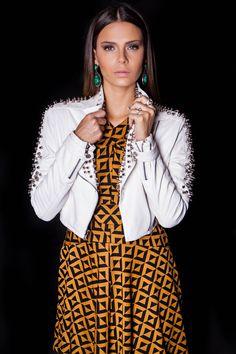 Vestido Padrão, Jaqueta Vicious Spikes e Brinco Malaquita #lançamentogaia #gaia #linhafesta #inverno15 #padrao #jacket #jaquetadecouro #jaquetaspikes #spikes #dresstoimpress #fashion #ootn #modamineira #lavibh