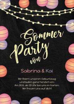 Frohlich Bunte Einladung Zur Motto Hawaii Party Sommer Party