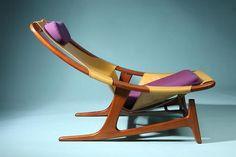 pynter:    (via Adjustable easy chair, Holmenkollen. Designed by Fredrik Kayser for Vatne, Norway. 1952.)