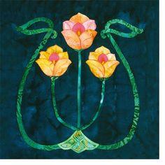 craftsman quilt | Nestled Tulips | Item #43a