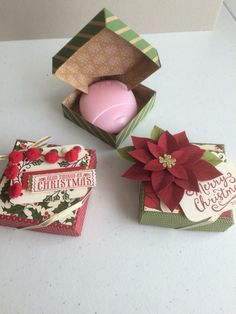 Patterned after Pootles.co.uk (Sam Donald's) Diamond opening tea light box. Treat Holder, Box Bag, Tea Lights, 3 D, Stampin Up, Card Ideas, Boxes, Diamond, Pattern