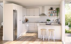Kitchen theme white style Bunnings 2