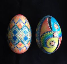 both are recreated designs and modified (goose eggs)