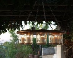 Outdoor dining? How about making this beautiful glass jar chandelier for setting the warm ambiance? What's great about this outdoor lighting idea is that it doesn't need to connect to a power supply. It makes a perfect lighting project for those who don't have the option of installing a fixture. All you basically need is a timber wide enough to cut holes as big as your mason jar lids. But if you don't have timber, or if this certain glass chandelier is not your style, there are many other…