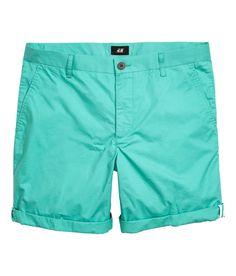 Cotton shorts slim fit   H&M For Men