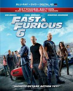Amazon.com: Fast & Furious 6 (Extended Edition) (Blu-ray + DVD + Digital HD with UltraViolet): Vin Diesel, Paul Walker, Dwayne 'The Rock' Jo...