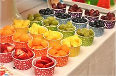 jelly bean rainbow birthday party fruit cups {BN Black Book of Parties} Rainbow Jelly Bean Party Trolls Birthday Party, Rainbow Birthday Party, Art Birthday, Troll Party, 1 Year Old Birthday Party, Birthday Party Snacks, Party Food For 5 Year Olds, Birthday Cupcakes, Birthday Candy Bar