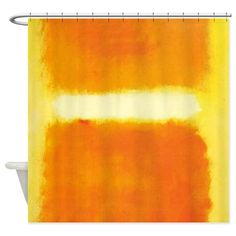 Shop unique Orange Shower Curtains from CafePress. Great designs on professionally printed shower curtains. Yellow Shower Curtains, Orange Curtains, Modern Shower Curtains, Fabric Shower Curtains, Yellow Fabric, White Light, Design Your Own, Color Combinations, Household
