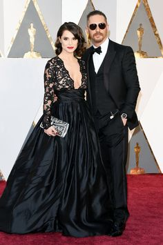 Tom Hardy and his wife Charlotte Riley looked gorgeous and so in love at the Oscars.
