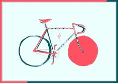 Bike in Painting / drawing / illustration