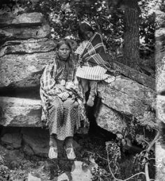 Big Mouth's daughters, Arapaho.  By J K Hillers, Okmulgee IT, 1875.  Huntington Library