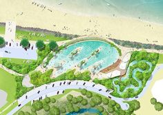 Yeppoon Foreshore Revitalisation by TCL Landscaping Melbourne, Landscaping Near Me, Landscaping Software, Landscaping Ideas, Landscape Design Plans, Landscape Concept, Landscape Architecture Design, Urban Architecture, Landscape Drawings