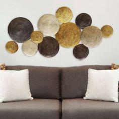 Stratton+Home+Decor+Textured+Plates+Metal+Wall+Art