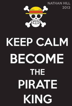 One Piece Keep Calm Monkey D. Luffy 2Y