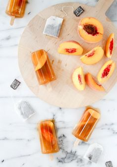 Sweet Peach Iced Tea Popsicles - 16 Deliciously Different Fruit Desserts for Summer | GleamItUp