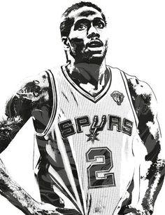 Kawhi Leonard SANANTONIO SPURS PIXEL ART 3 Art Print by Joe Hamilton. Basketball Art, Basketball Pictures, Basketball Uniforms, Basketball Players, Sports Art, Sports Logo, Joe Hamilton, Nba Pictures, Nba Stars