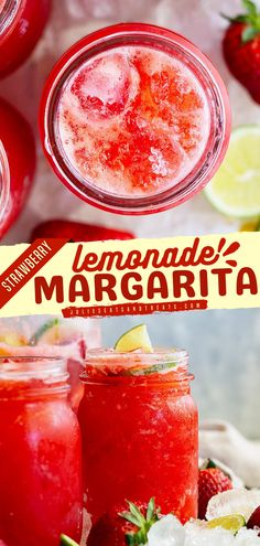 Have a blast with strawberry lemonade margarita recipe as your go-to cocktail idea. This easy 4th of July drink is cool, refreshing, and always a crowd favorite. Load up those fruits and make one now! Summer Drink Recipes, Potluck Recipes, Barbecue Recipes, Summer Desserts, Fruit Recipes, Summer Drinks, Cocktail Recipes, Yummy Recipes, Cocktails