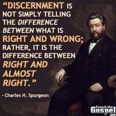 Discernment spurgeon