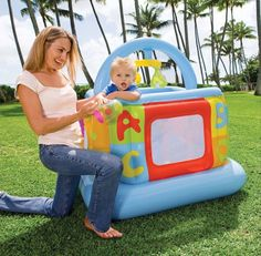56.09$  Buy here - http://alir5s.worldwells.pw/go.php?t=1796123878 - Intex baby play house Baby Playground trampoline household,size 117*117*117cm