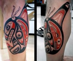 Discover aboriginal grandeur with the top 70 best Haida tattoo designs for men. Explore cool tribal ink ideas from the Pacific coast with red and black ink. Native Tattoos, Tribal Tattoos, Tatoos, Haida Tattoo, Inca Tattoo, Aboriginal Tattoo, Haida Art, Whale Art, Native Art