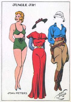 Jungle Jim • Joan Peters Paper Doll