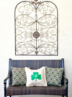 Felt Shamrock Pillow