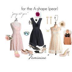 Pretty dresses for the A-shape, #Fashion for the A-shape #pear shape