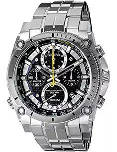 Bulova Men's Precisionist Stainless Steel Watch – Watches Sale Men's Watches, Bulova Mens Watches, Cool Watches, Fashion Watches, Men's Fashion, Fine Watches, Jewelry Watches, Stainless Steel Watch, Stainless Steel Bracelet