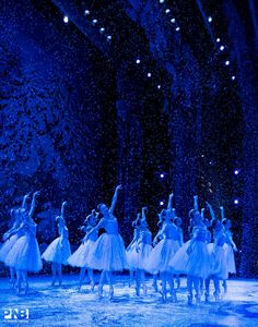 Snow scene: The Nutcracker Ballet