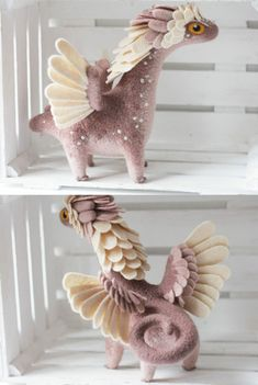 Felt Dragons by Alena Bobrova on Etsy See more dragons So Super Awesome is also on Facebook, Pinterest and Instagram #feltanimalsdiy