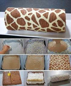Wonderful DIY Swiss Roll Cake With Giraffe Pattern Be honest – this is the first time you've ever seen a giraffe pattern on a cake, right? This Swiss Roll looks like the kind of confectionery masterpiece Cake Roll Recipes, Dessert Recipes, Desserts Diy, Health Desserts, Food Cakes, Cupcake Cakes, Bolo Original, Swiss Roll Cakes, Swiss Cake