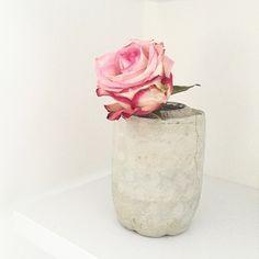 DIY Beton Blumenvase