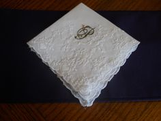 Embroidered Hankie by JanetsEmbroidery on Etsy, $13.00