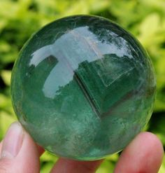 379g 61MM Natural Fluorite Quartz Crystal Sphere Ball Healing 5-8-70