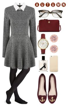 """Untitled #408"" by whiskeyqueen ❤ liked on Polyvore featuring moda, Pull&Bear, Tory Burch, FOSSIL, Ted Baker, Nana de Bary e Kate Spade"