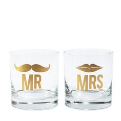 Mr. & Mrs. Cocktail Glass Set -- what bride doesn't need these?