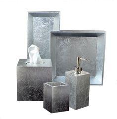 Eos Silver Leaf Bath Accessories | Gracious Style