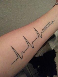 Back gt Gallery For gt EKG Rhythm Tattoos