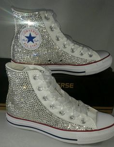 Wedding bridal customised converse, pearls, personalised printed, fully covered
