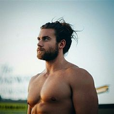 The magnificent man bun specimen Brock O'Hurn. | 23 Beard And Man Bun Combinations That Will Awaken You Sexually